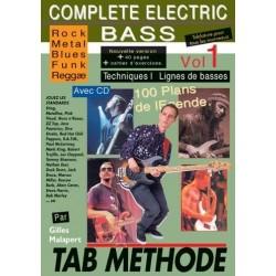 Complete Electric Bass Vol1 Gilles Malapert Ed Rébillard Melody music caen