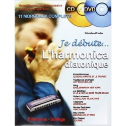 Méthode Je débute l'harmonica diatonique avec CD + DVD Melody Music Caen