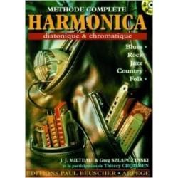 Méthode complète Harmonica diatonique et chromatique + CD Melody Music Caen