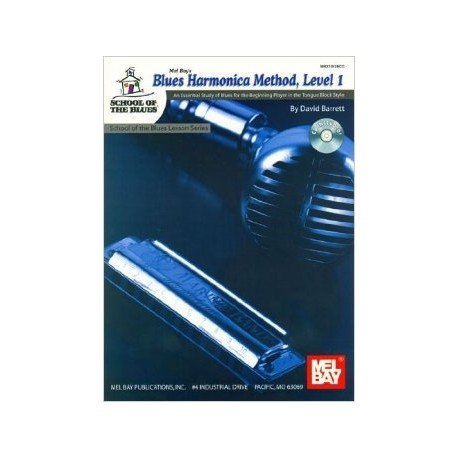 Méthode : Blues harmonica Vol.1 avec CD Melody Music Caen