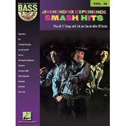 Play Along Bass Jimi Hendrix Experience Smash Hits Vol10 Ed Hal Leonard Melody music caen