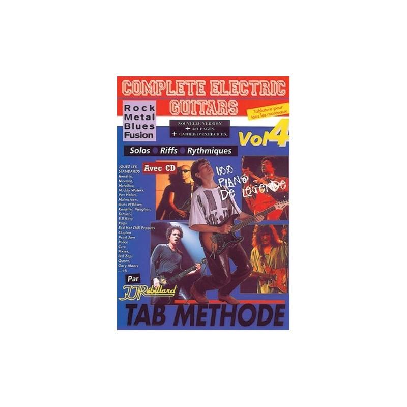 Complete Electric Guitars Vol4 Rock Metal Blues Fusion Ed Rebillard Melody music caen