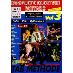 Complete electric Guitars Rock, Metal, Blues, Fusion Vol3 Ed Rebillard Melody music caen
