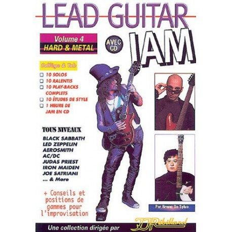 Lead Guitar Jam Vol4 Hard Metal Ed Rebillard Melody music caen