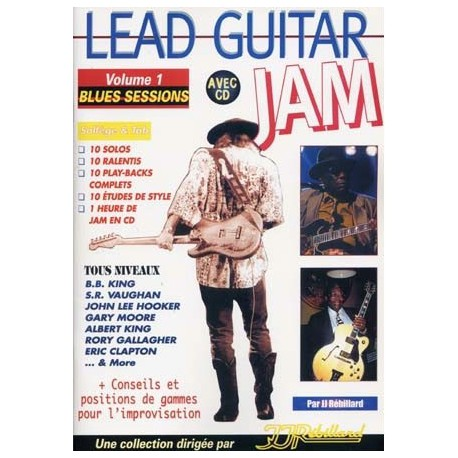 Lead Guitar Jam Vol1 Blues Sessions Ed Rebillard Melody music caen
