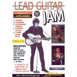 Lead Guitar Jam Unplugged Vol3 Ed Rebillard Melody music caen