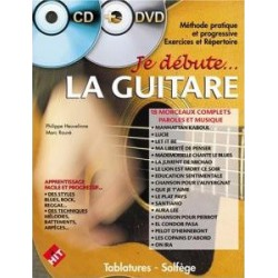 Je débute la guitare vol1 CD+DVD Philippe Heuvelinne Ed Hit Diffusion Melody music caen
