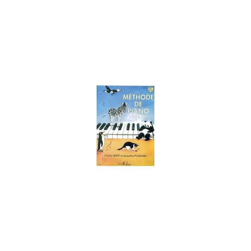 Méthode de Piano Débutants Charles Hervé et Jacqueline Pouillard Ed Henry Lemoine Melody music caen