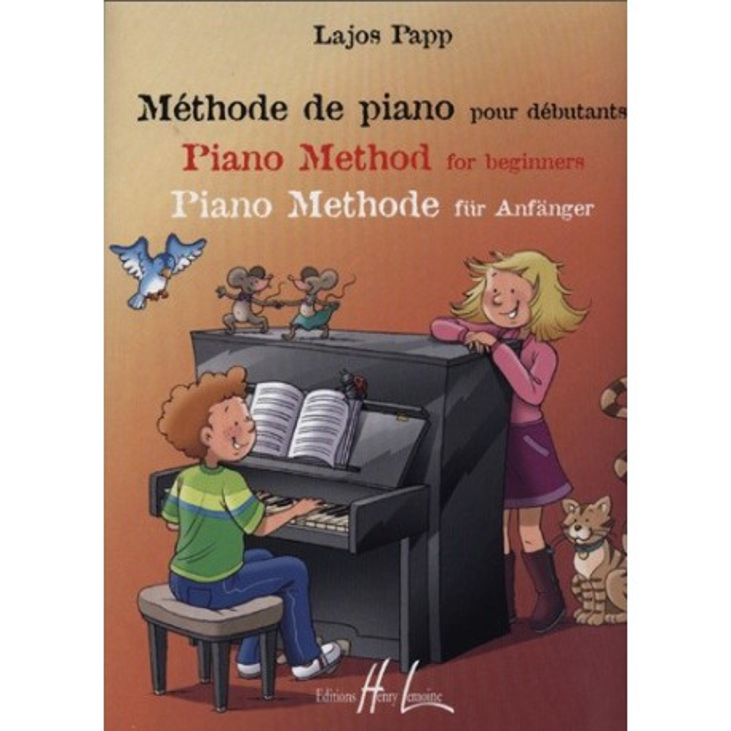 Méthode de piano pour Débutants Lajos Papp Ed Henry Lemoine Melody music caen