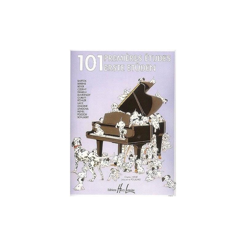 101 Premières études Charles Hervé Jacqueline Pouillard Ed Henry Lemoine Melody music caen