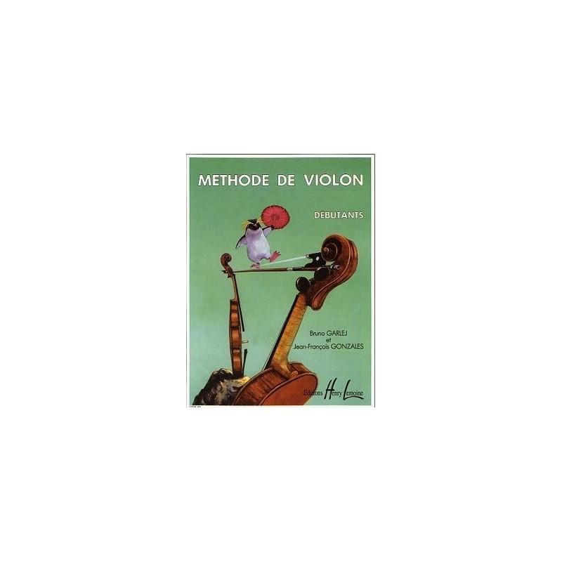 Méthode de violon débutants Bruno Garlej et Jean François Gonzales Ed Henry Lemoine Melody music caen