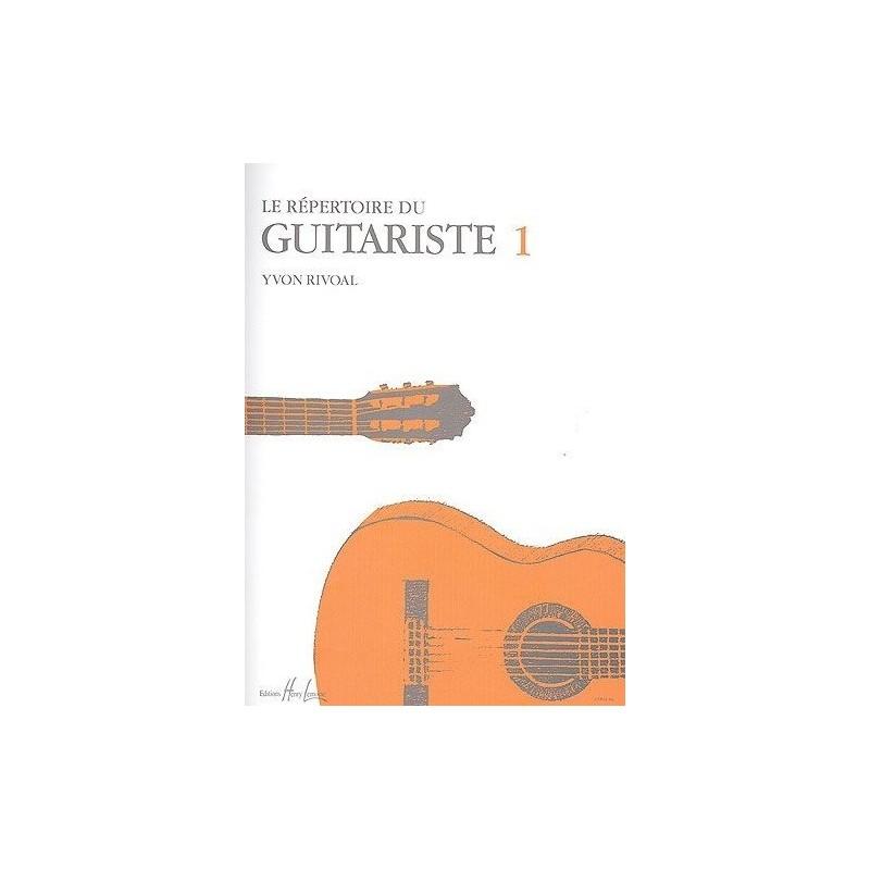 Le Répertoire du Guitariste Vol1 Rivoal Ed Henry Lemoine Melody music caen