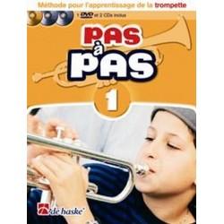 Méthode pour l'apprentissage de la trompette Pas à Pas Vol1 Ed De Haske