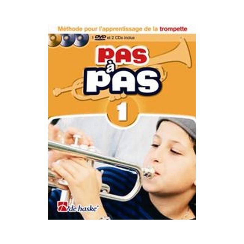 Méthode pour l apprentissage de la trompette Pas à Pas Vol1 Ed De Haske Melody music caen