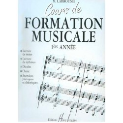 Cours de Formation Musicale 1ère année Labrousse Ed Henry Lemoine Melody music caen