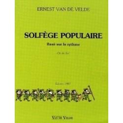 Solfège Populaire Basé sur le Rythme Clé de Sol Ed Van de Velde Melody music caen