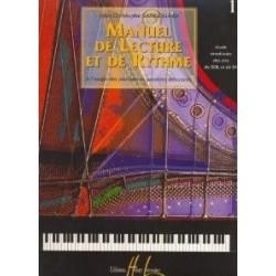Manuel de lecture et de rythme vol1 Jean Christophe Sangouard Ed Henry Lemoine