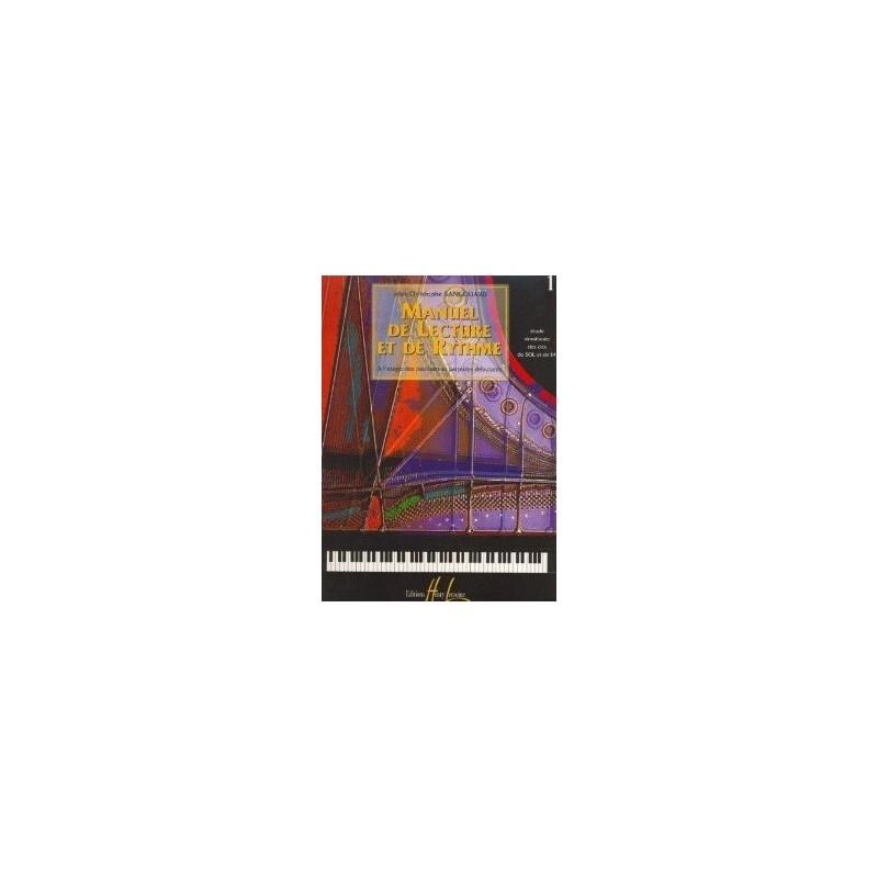 Manuel de lecture et de rythme vol1 Jean Christophe Sangouard Ed Henry Lemoine Melody music caen