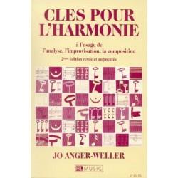 Clés pour l harmonie à l usage de l analyse, l improvisation, la composition Jo Anger Weller Ed HL Music Melody music caen