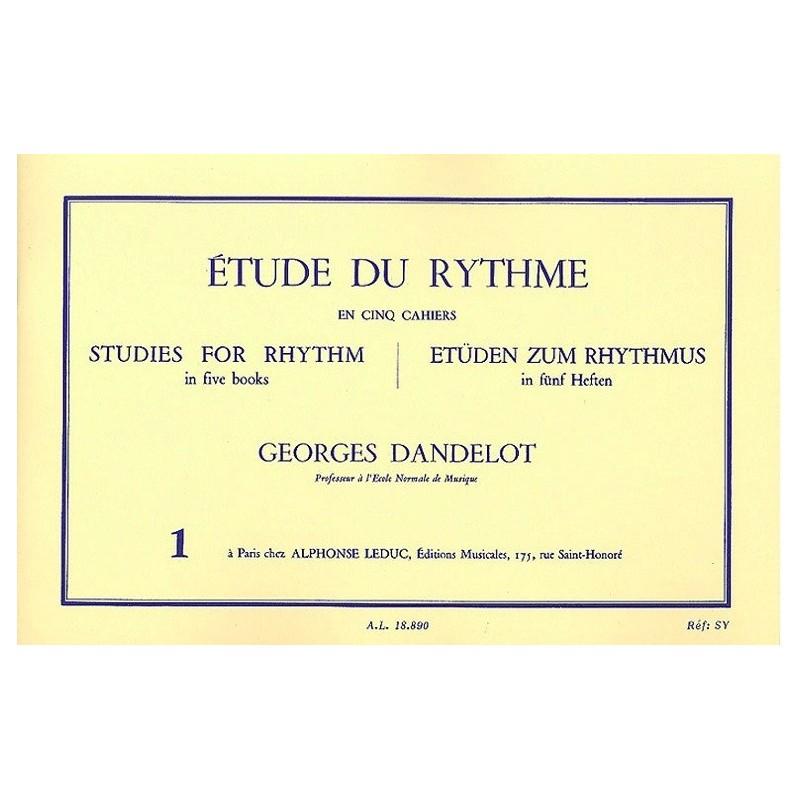 Etude du Rythme en 5 cahiers Georges Dandelot Ed Leduc Melody music caen