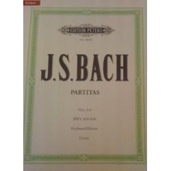Partitas N°4-6 Bach N°4463b Urtext