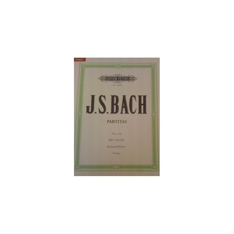 Partitas N°4-6 Bach N°4463b Urtext Melody music caen