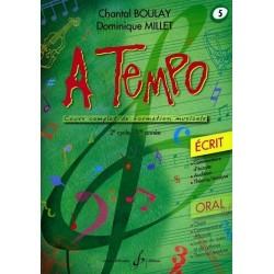 A Tempo Vol. 5 Ecrit 2è cycle 1ère année