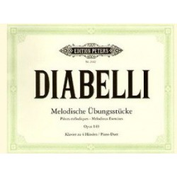 Diabelli Melodious Exercises op149 piano à 4 mains