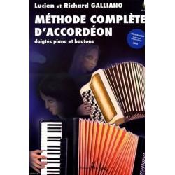 Méthode complète d'accordéon Lucien et Richard Galliano