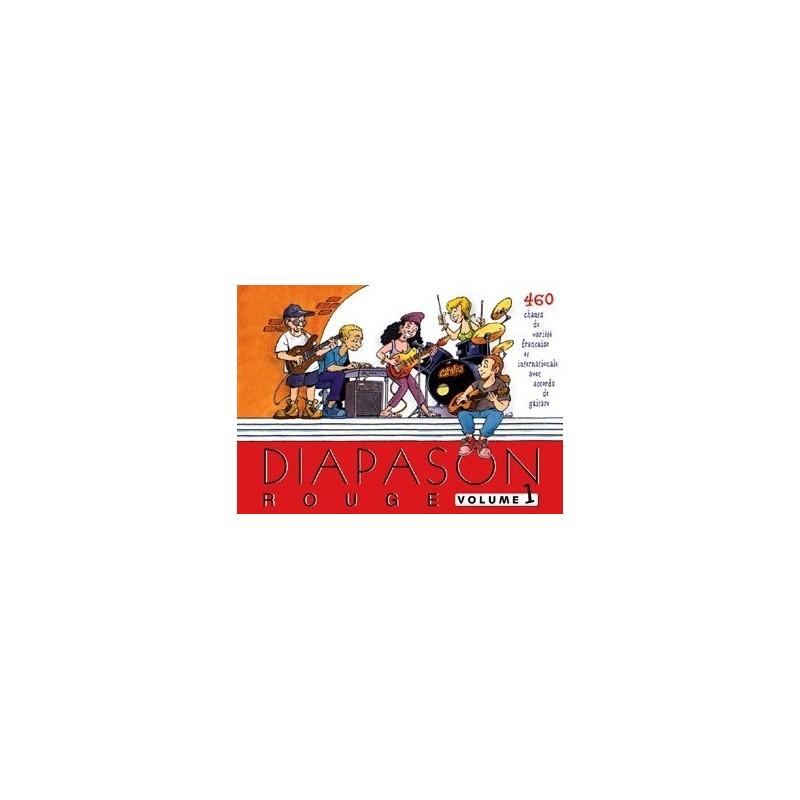Diapason rouge Vol1 avec accords guitares Melody music caen