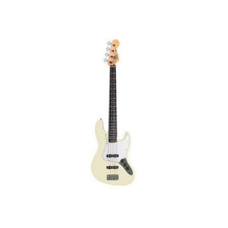 FENDER Jazz Bass standard mexicaine Artic White Melody music caen