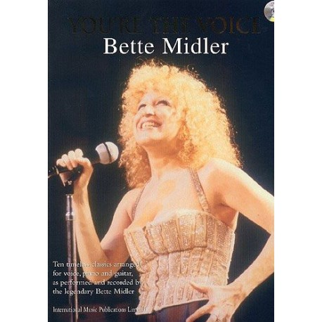 You re the voice Bette Midler pour piano chant guitare avec CD Melody music caen