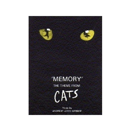 Partition Memory du film Cats pour piano Melody music caen