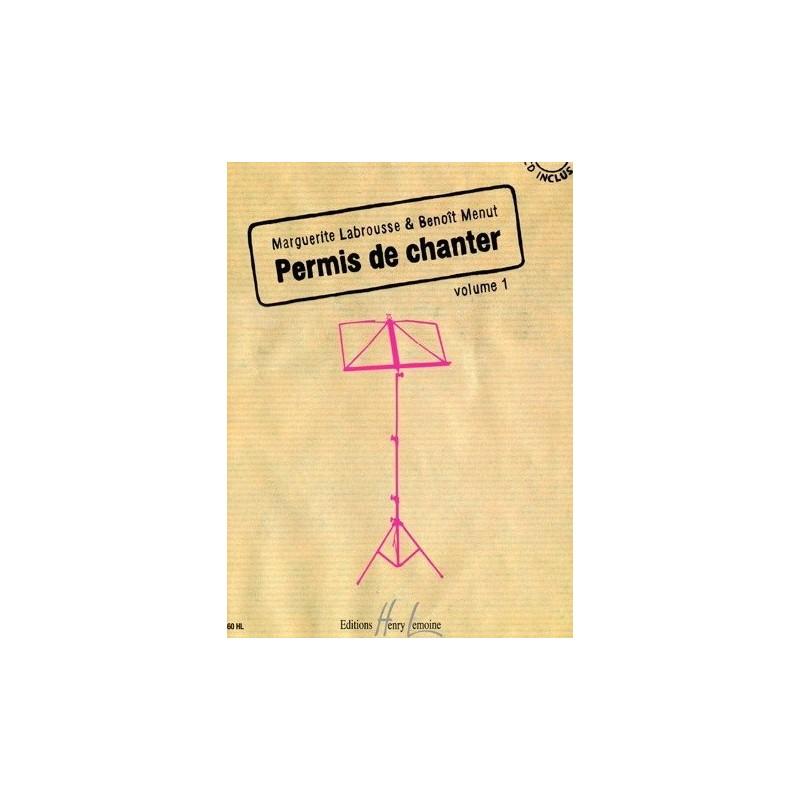 Permis de chanter Vol1 Margueritte Labrousse et Benoît Menut Melody music caen