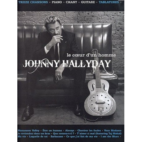 Johnny Halliday Le coeur d un homme Piano chant guitare tablatures Melody music caen