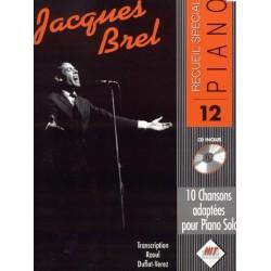 Recueil spécial piano vol12 Jacques Brel