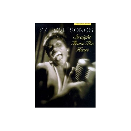 27 love songs Piano voix guitare Melody music caen