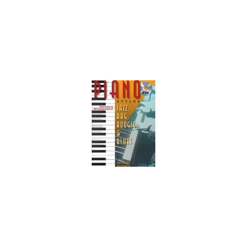 Piano styles Jazz, Rag, Boogie et Blues Vol1 Marc Bercovitz Melody music caen