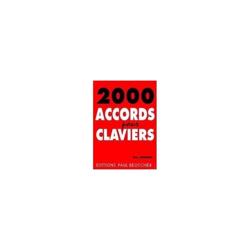 2000 accords pour clavier Guy Léonard Melody music caen