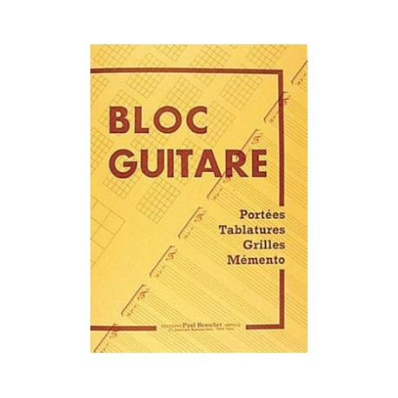 Bloc Guitare Melody music caen