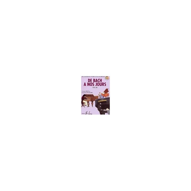 De Bach à nos jours Vol6B Charles Hervé et Jacqueline POUILLARD Ed Henry Lemoine Melody music caen