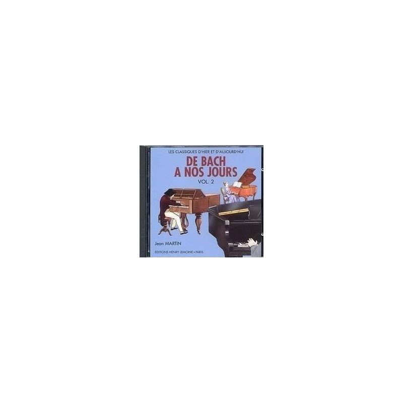 De Bach à nos jours Vol2A avec CD Charles Hervé et Jacqueline POUILLARD Ed Henry Lemoine Melody music caen