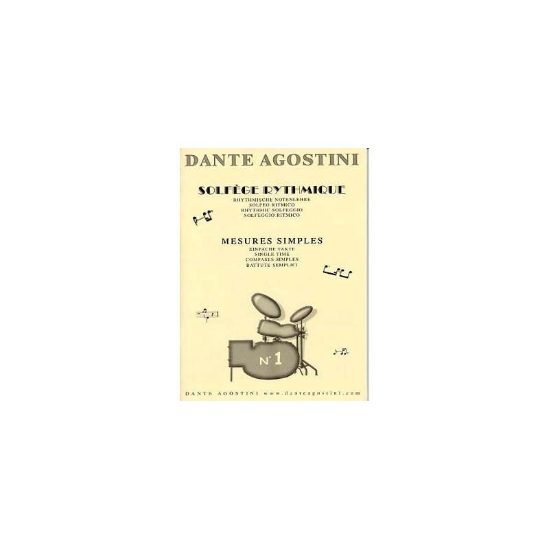 Dante Agostini Solfege rythmique N°1 Melody music caen