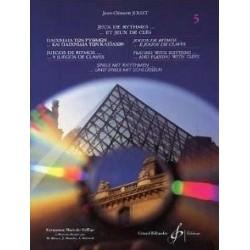 Jeux de Rythmes...et jeux de clés Vol5 Jean Clément Jollet Ed Billaudot Melody music caen