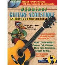 Rebillard Débutant Guitare Acoustique La Méthode Universelle CD+DVD