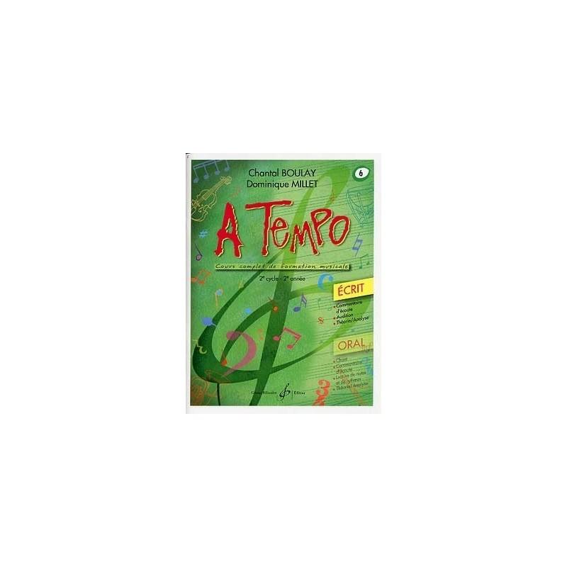 A Tempo Vol 6 Ecrit 2è cycle 2ère année Melody music caen