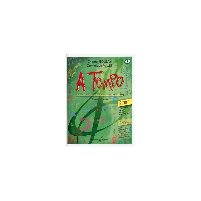 A Tempo Vol 7 Ecrit 2è cycle 3em année Melody music caen