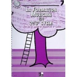 La Formation Musicale en 2è 3è Cycle Vol 7 Marie Hélène Siciliano Ed Hexamusic Melody music caen