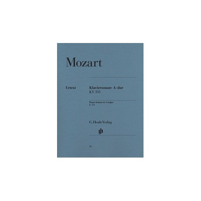 Klaviersonate La majeur HN50 Urtext Mozart Melody music caen