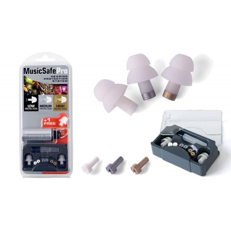 Music Safe Pro, 3 bouchons, 3 filtres, 1 étui Melody music caen
